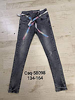 Джинсовые брюки для девочек оптом, Seagull, 134-164 рр., Арт. CSQ-58098
