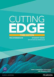 Cutting Edge Third Edition Pre-Intermediate Students' Book with DVD-ROM and MyLab Access