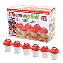 Силиконовые формы для варки яиц без скорлупы Silicone Egg Boil, фото 3