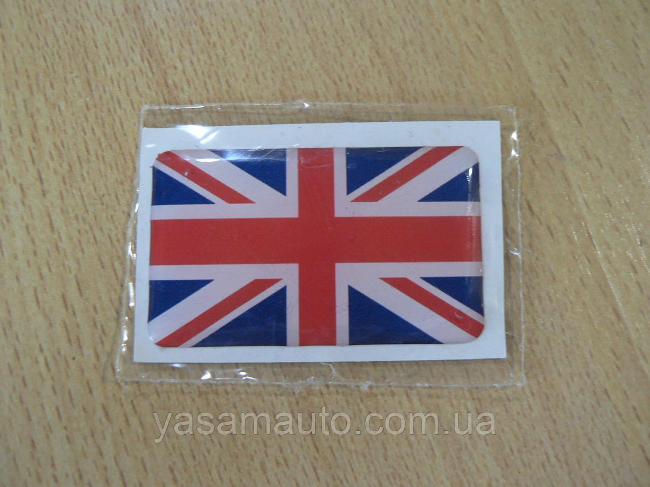 Наклейка s силиконовая флаг 50х30х0,8мм Великобритании Англии в на авто