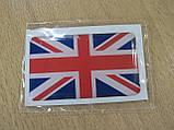 Наклейка s силиконовая флаг 50х30х0,8мм Великобритании Англии в на авто, фото 3