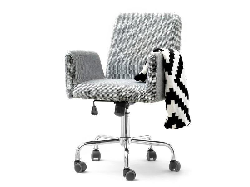 Кресло офисное для работы за компьютером Z TKANINY DO DOMOWEGO BIURA LOMAX BIAŁO-CZARNY