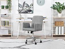 Кресло офисное для работы за компьютером Z TKANINY DO DOMOWEGO BIURA LOMAX BIAŁO-CZARNY , фото 2