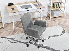 Кресло офисное для работы за компьютером Z TKANINY DO DOMOWEGO BIURA LOMAX BIAŁO-CZARNY , фото 3