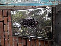 Дверца стальная нерж.для каптильни  Декор Греческая.