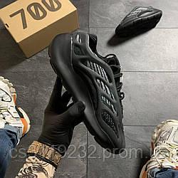 Мужские кроссовки Adidas Yeezy Boost 700 v3 Triple Black (черные)