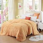 Покривало Хутряне Травка  Плюш Рожеве 220 х 240 см Євро покривало на ліжко пакування подарункова сумка, фото 6
