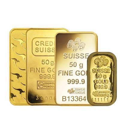 Слиток золота 50 грамм БЕЗ УПАКОВКИ
