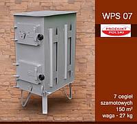 Печь буржуйка стальная ― WPS07 7 шамотных кирпичей, фото 1
