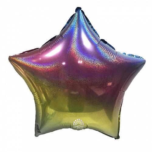 "Фольгована кулька зірка веселка голограма 18""  Art show"