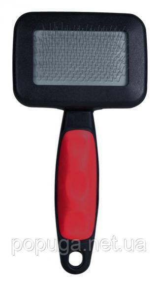 Щетка-пуходерка мягкая + расчёска TRIXIE, 11х16 см