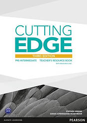 Cutting Edge Third Edition Pre-Intermediate Teacher's Book with Resource Disc