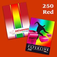 Бумага ксероксная 250 листов А4/160 Spectra интенсивный Red 250