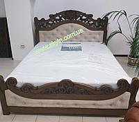 Ліжко Корона з масиву дерева, фото 1