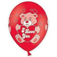"""Латексна кулька з малюнком шовкографія ведмедик 14"""" Belbal"""