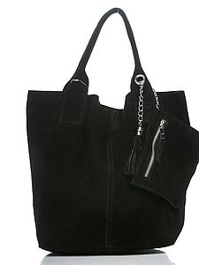 Женская итальянская натуральная кожаная сумка 36х27х18