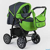 Коляска для детей Viki 86- C 15, серо-зеленый