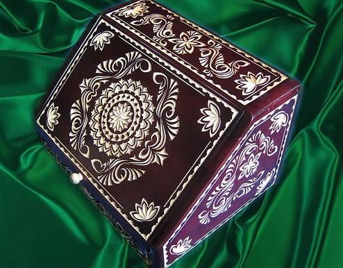Хлебница резная сувенирная, фото 2