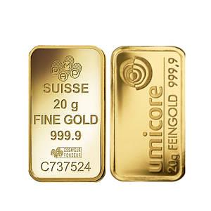 Слиток золота 20 грамм БЕЗ УПАКОВКИ
