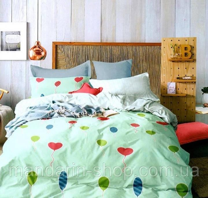 Комплект постельного белья двуспальный Евро Lovely Hearts Сатин Фабричная Турция