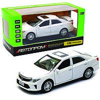 Машинка игровая автопром «Toyota Camry» Тойота, белая, металл, 14 см, (свет, звук, двери открываются) 7814, фото 1