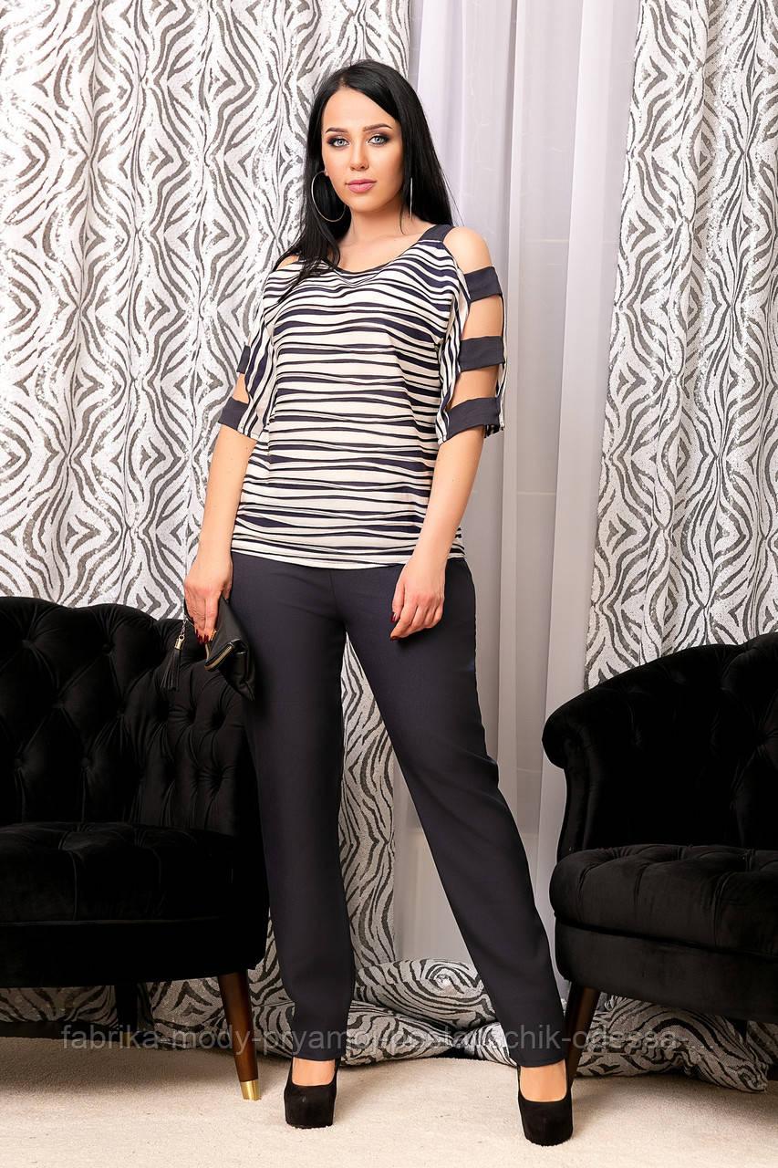 Женский костюм брючный  ДАВд№6442до 62 размера