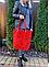 Женская итальянская натуральная кожаная сумка хаки 40х36х13, фото 5