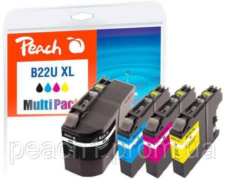 Набор картриджей (MultiPack)(BK,C,M,Y) Brother LC22U XL c новым чипом.