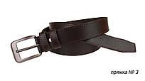 Ремень кожаный джинсовый одна строчка SULLIVAN  RMK-11(7.5) 115-150 см коричневый