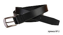 Ремень кожаный джинсовый одна строчка SULLIVAN  RMK-41(7.5) 115-150 см черный