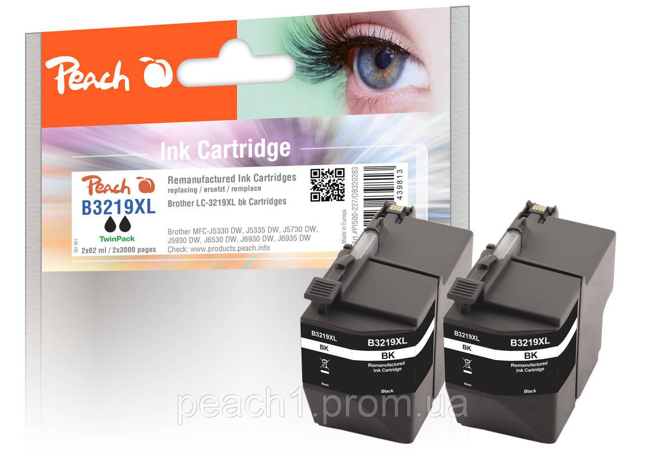 Набор картриджей, черные (Black ), Brother LC 3219XL TwinPack c новым чипом.