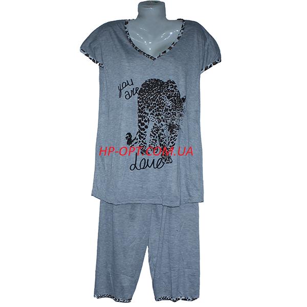Женская котоновая пижама БАТАЛЫ (р-ры 54-60) оптом со склада в Одессе.