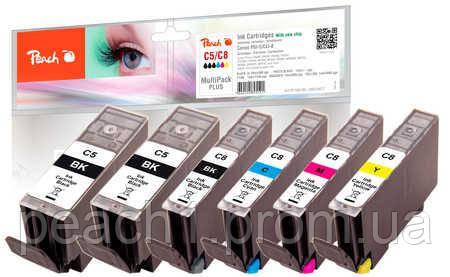 Набор картриджей (MultiPack Plus)(2xBK,PBK,C,M,Y) Canon PGI 5 / CLI 8 c новым чипом