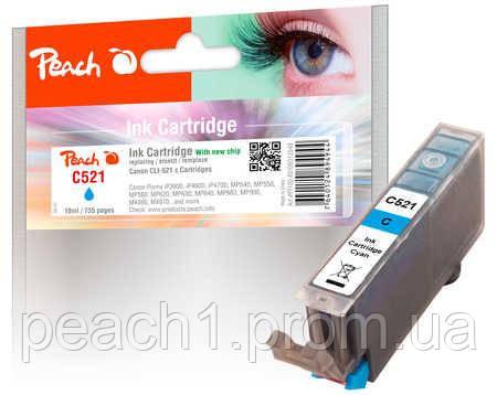 Картридж струменевий, блакитний (Cyan), Canon CLI 521, 2934B001 з новим чіпом