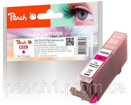 Картридж струйный, розовый (Пурпурный/Magenta), Canon CLI 526, 4541B001 c новым чипом