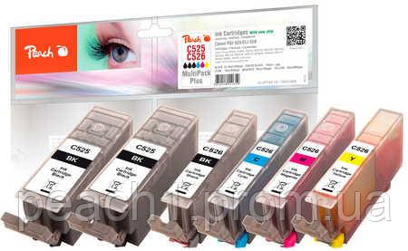 Набор картриджей (MultiPack Plus)(2xBK,PBK,C,M,Y) Canon PGI 525/CLI 526 c новым чипом