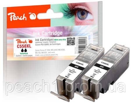 Картридж струменевий (2x), чорний (Black ), Canon PGI 550XL TwinPack з новим чіпом