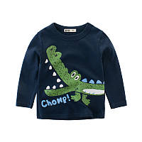 Кофта с крокодилом для мальчика рост 130-140