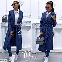 Женское кашемировое пальто на подкладке больших размеров