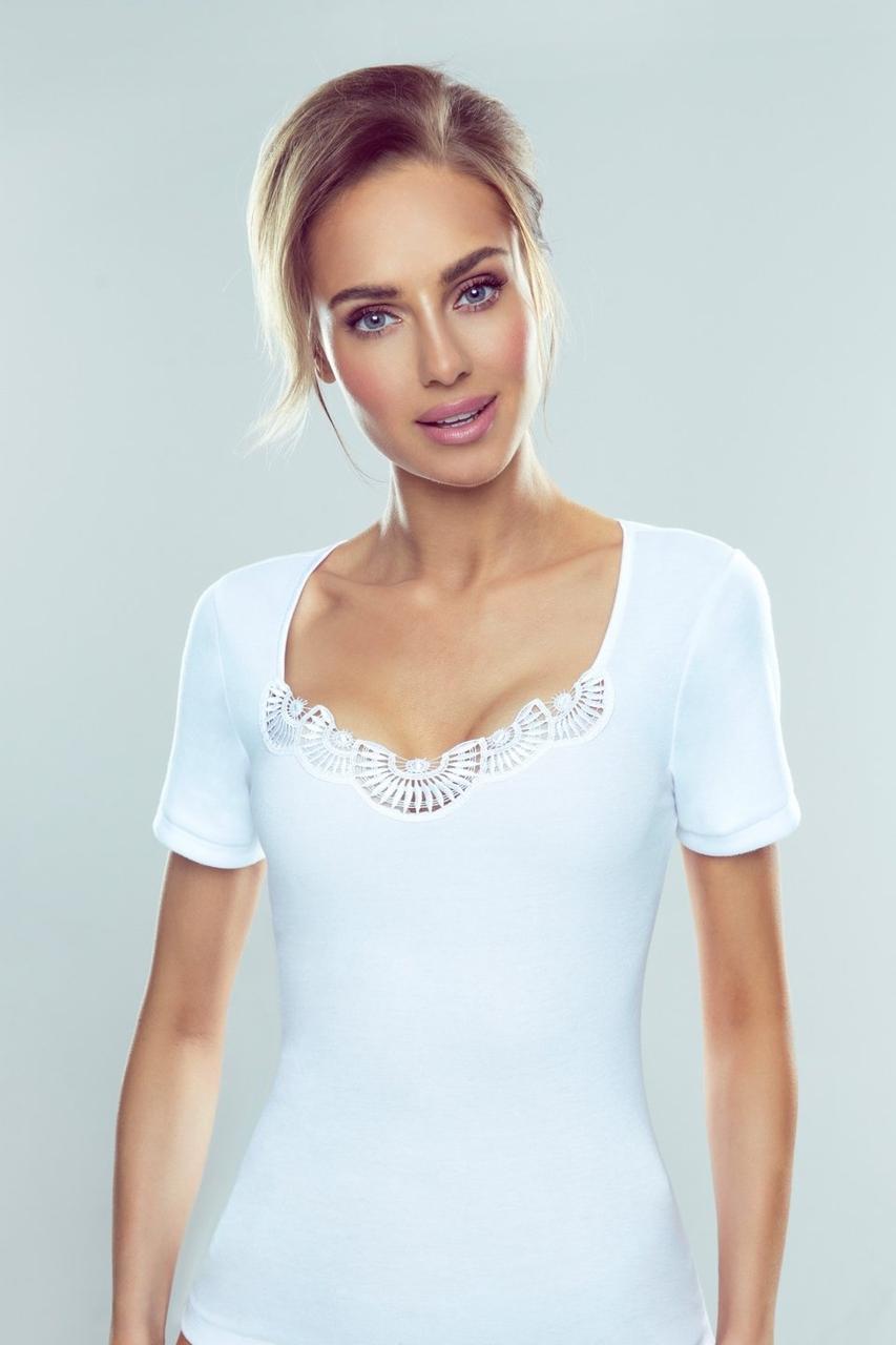 Женская футболка Roxana Eldar белого цвета