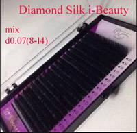 "Ресницы i-Beauty Diamond Silk ""MIX""  d0.07 8-14мм"