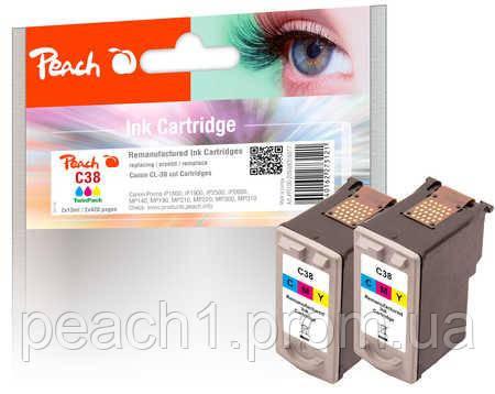 Набор картриджей (2x), 3 х цветные (C,M,Y), Canon CL 38 TwinPack с оригинальным чипом.