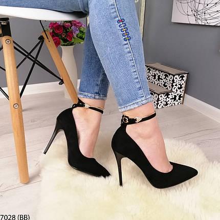 Черные туфли на каблуке, фото 2