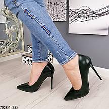Зеленые туфли на высоком каблуке, фото 2