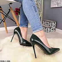 Зеленые туфли на высоком каблуке, фото 3
