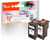 Набор картриджей 3 х цветный (C,M,Y) и черный (Вк) Canon PG 510 / CL 511  с оригинальным чипом.