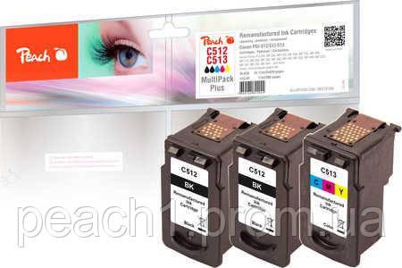 Набор картриджей. (2x) черный (Black),(1x) 3 х цветные (C,M,Y), Canon PG 512 / CL 513 с оригинальным чипом.