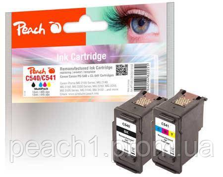Набор картриджей 3 х цветный (C,M,Y) и черный Canon PG 540 / CL 541  с оригинальным чипом.