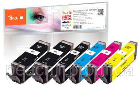 Набор картриджей (MultiPack Plus) (2xBK,PBK,C,M,Y) Canon PGI 580XXL/CLI 581XXL с оригинальным чипом.