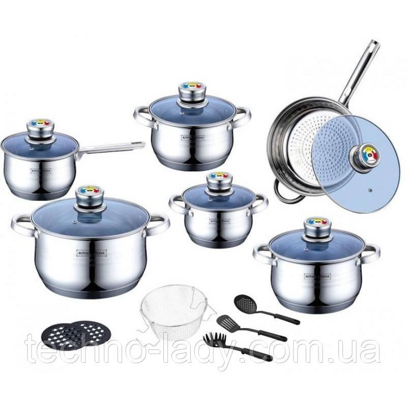 Набор посуды Royalty Line RL-1801BC, Стальной